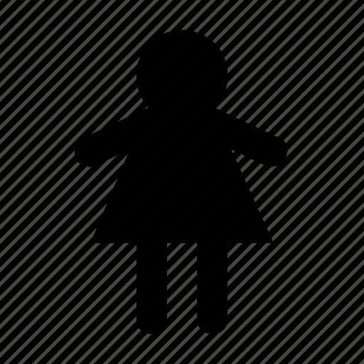 child, girl, little girl, schoolchild, schoolgirl icon