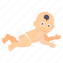 baby, children, crawl, crawling, infant, kids icon