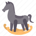 baby, children, horse, infant, kids, toy icon