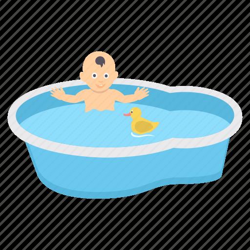 baby, bath, bathing, children, infant, kids, tub icon