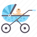 baby, children, infant, kids, pram icon