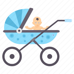 baby, children, infant, kids, pram icon