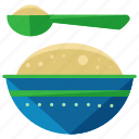 baby, bowl, feeding, food, maternity, meal, spoon icon