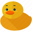 baby, bathtub, child, duck, maternity, rubber, toy icon