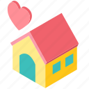 care, child, family, happy, home, house, love icon