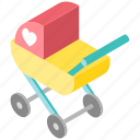 baby, carriage, child, childhood, perambulator, stroller icon