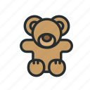 baby, bear, child, kid, kids, teddy, toy icon