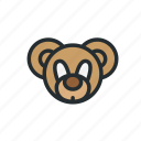 baby, bear, child, children, face, teddy, toy icon