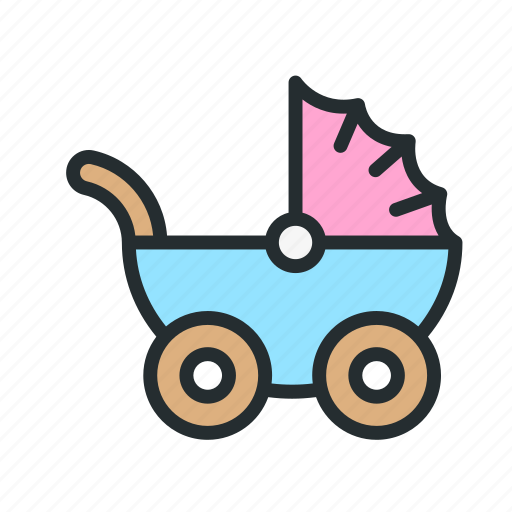 baby, carriage, child, children, kid, pram, stroller icon