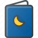 baby, bedstory, book, child, children, night, story icon