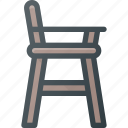 baby, chair, child, children, feeding, furniture icon