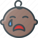 boy, cry, face, crying, child, baby, children icon