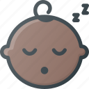 baby, boy, child, children, face, sleep, sleeping icon