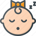 baby, child, children, face, girl, sleep, sleeping icon