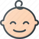 baby, boy, child, children, face, smile icon