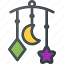 baby, bed, child, children, hanging, toy icon