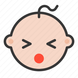 baby, emoji, emoticon, expression, hurt icon