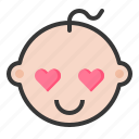 baby, emoji, emoticon, expression, loved icon