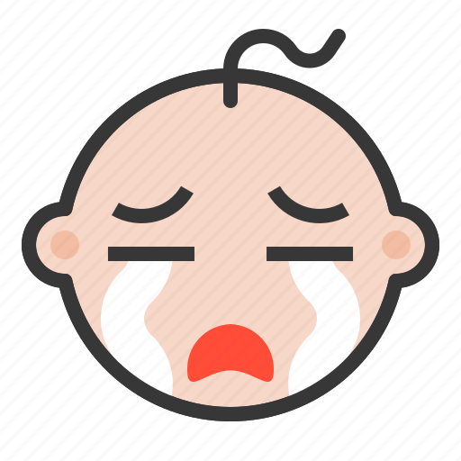 baby, cry, disappointed, emoji, emoticon, expression icon