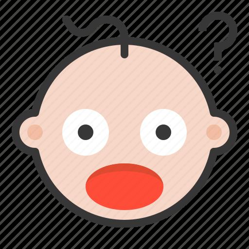 baby, emoji, emoticon, expression icon