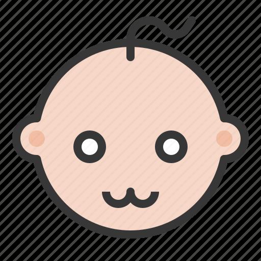 baby, cute, emoji, emoticon, expression icon
