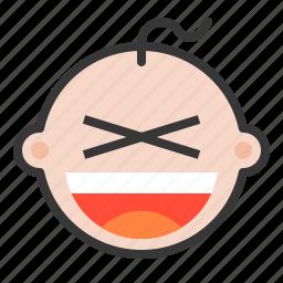 baby, emoji, emoticon, expression, xd icon