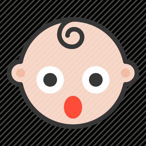 Baby, emoji, emoticon, expression, shocked, surpirsed icon - Download on Iconfinder