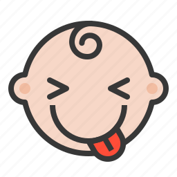 baby, emoji, emoticon, expression, naughty icon