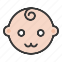 baby, cute, emoji, emoticon, expression icon