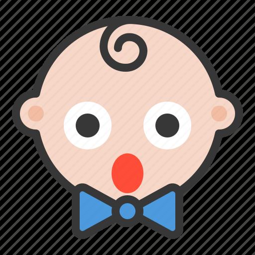 baby, emoji, emoticon, expression, shocked, surprised icon