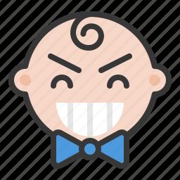 baby, emoji, emoticon, expression, happy, satisfied icon