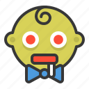 baby, emoji, emoticon, expression, hungry, zombie icon