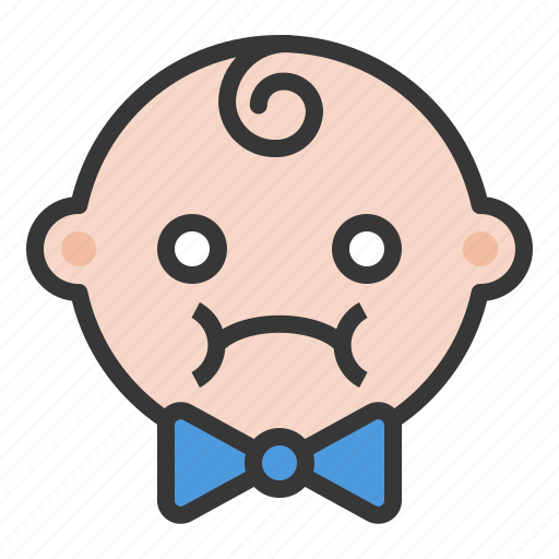 annoyed, baby, depressed, disappointed, emoji, emoticon, expression icon