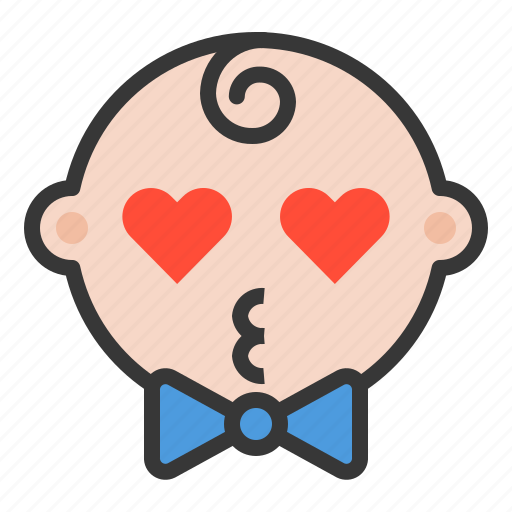 baby, emoji, emoticon, expression, liked, loved icon