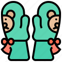 baby, cute, groves, mittens, warmth icon