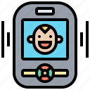 baby, device, monitor, recording, security icon