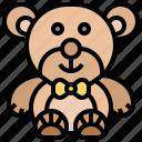 animal, bear, doll, stuffed, teddy
