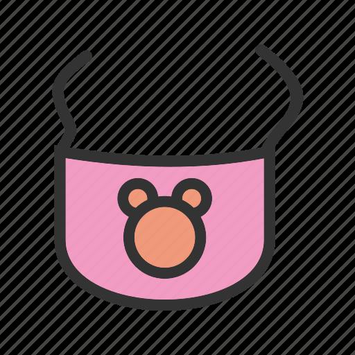 baby, bib, bibs, clip, infant, mealtime, milk icon