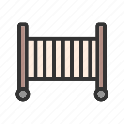 baby, bed, born, child, cot, new, sleeping icon