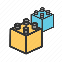 block, blocks, brick, building, cube, play, toy icon