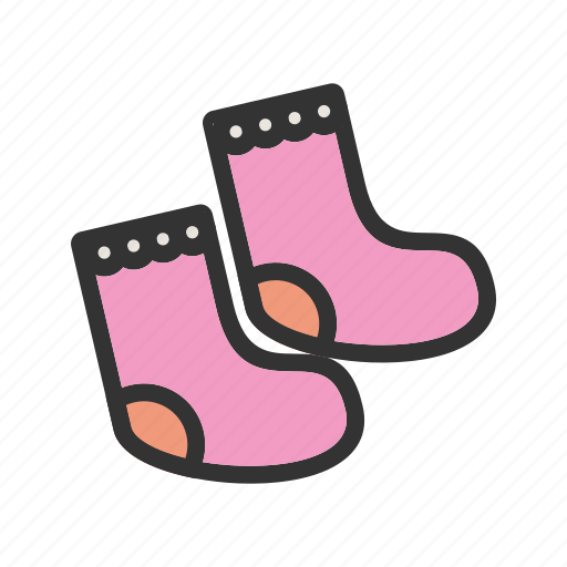 baby, clothes, newborn, pink, sock, socks, young icon