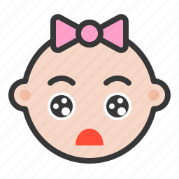 baby, emoji, emoticon, expression, impressed, shocked, surprised icon