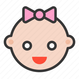 baby, emoji, emoticon, expression, happy, smile icon