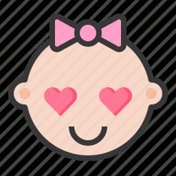 baby, emoji, emoticon, expression, loved icon