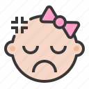 angry, annoyed, baby, emoji, emoticon, expression icon