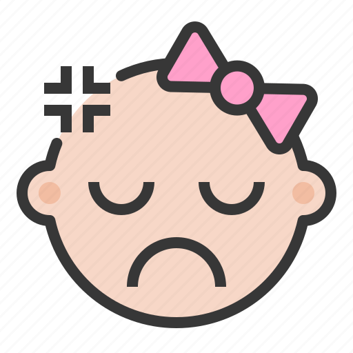 Angry, annoyed, baby, emoji, emoticon, expression icon - Download on Iconfinder