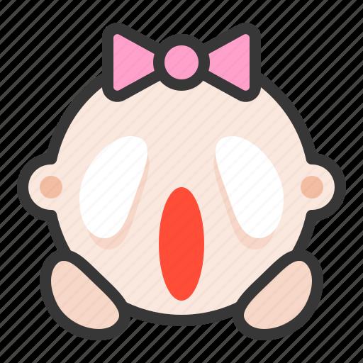 baby, emoji, emoticon, expression, haunted icon