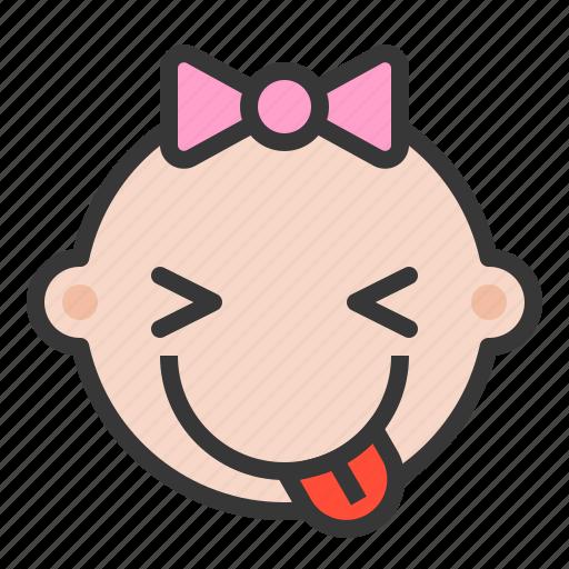 Baby, emoji, emoticon, expression, naugthy icon - Download on Iconfinder