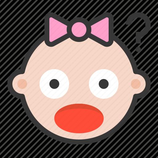 Baby, confused, emoji, emoticon, expression, shocked icon - Download on Iconfinder