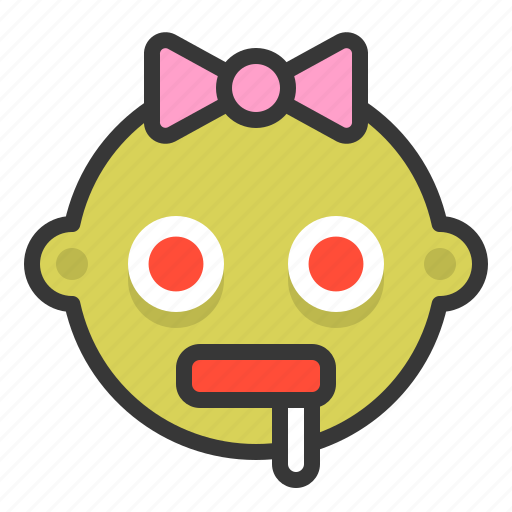 Baby, emoji, emoticon, expression, hungry, zombie icon - Download on Iconfinder